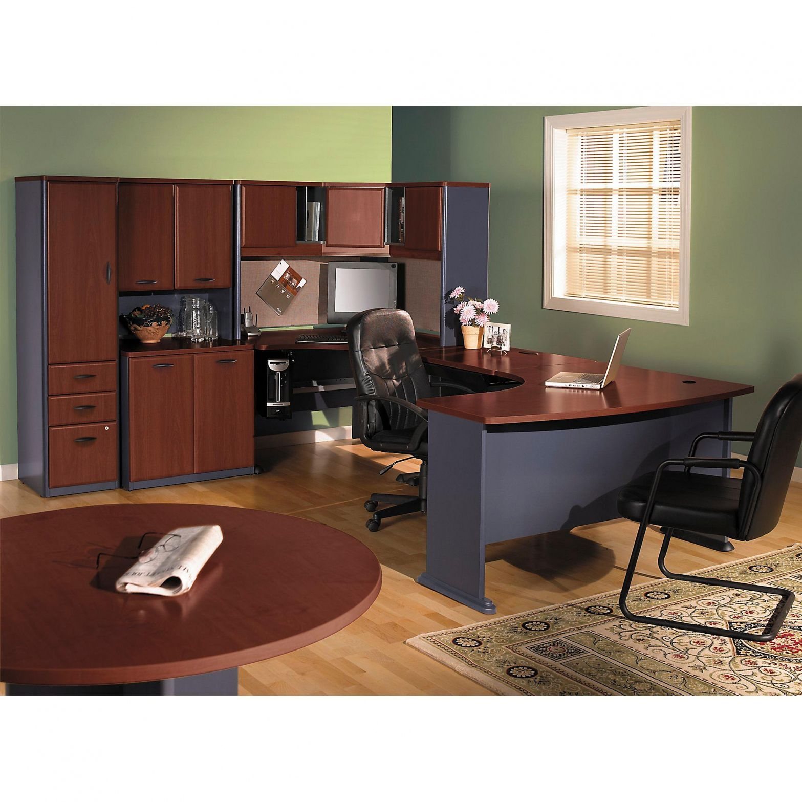55 Small Round Office Meeting Table Real Wood Home Furniture Check More At