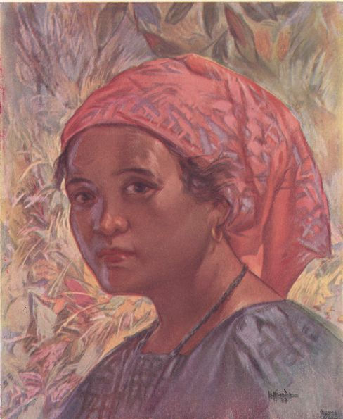 Ilocano Girl, pastel, by I  L  Miranda  The Ilocanos occupy