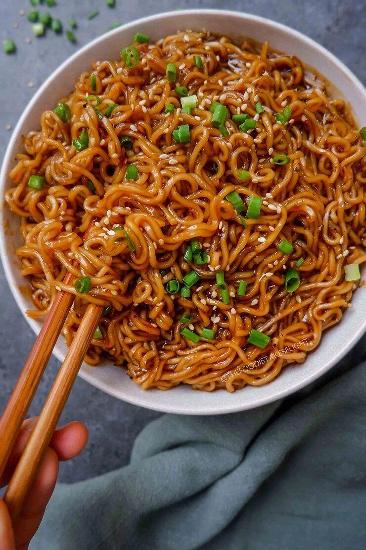Easy Saucy Ramen Noodles