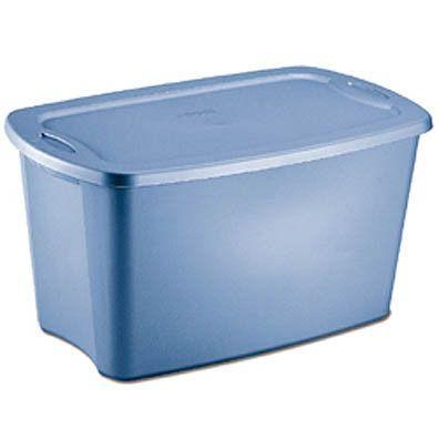 "Plastic Storage Box (set of 2) 30 gallons (Lapis) (32 3/8"" L x 19 3/4"" W x 17 1/8"" H)"