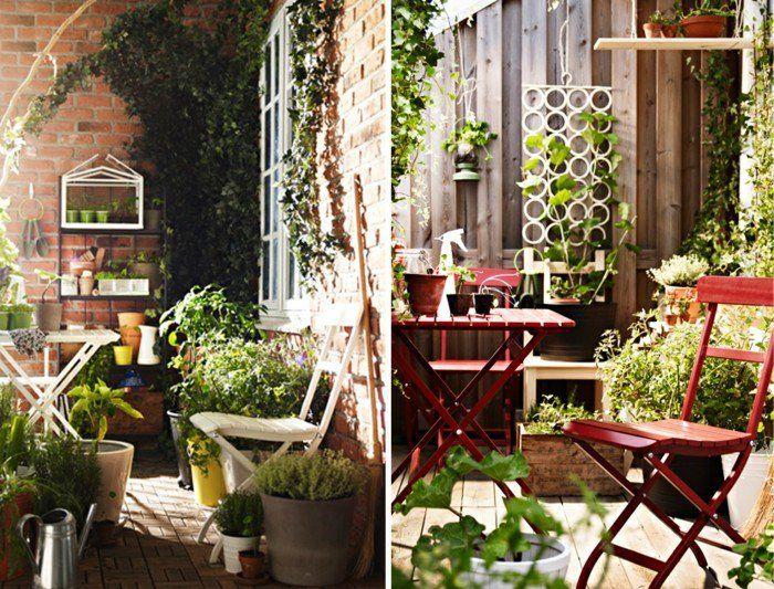 Balkon Gestalten Klappstuhl Klapptisch Blumenständer ... Balkon Gestalten Balkonmobel Balkonpflanzen