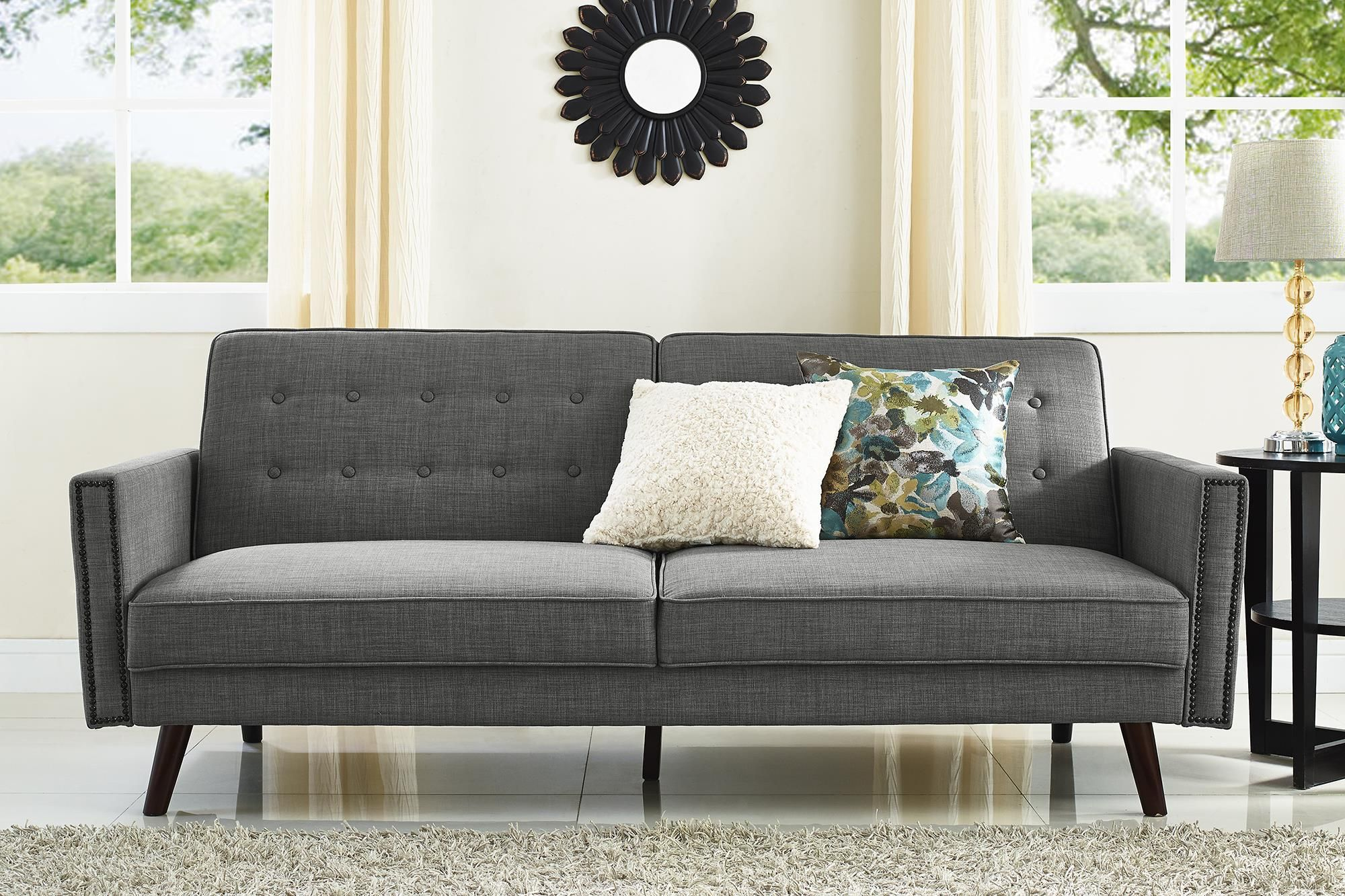 Better Homes and Gardens Rowan Sofa Bed, Gray Walmart