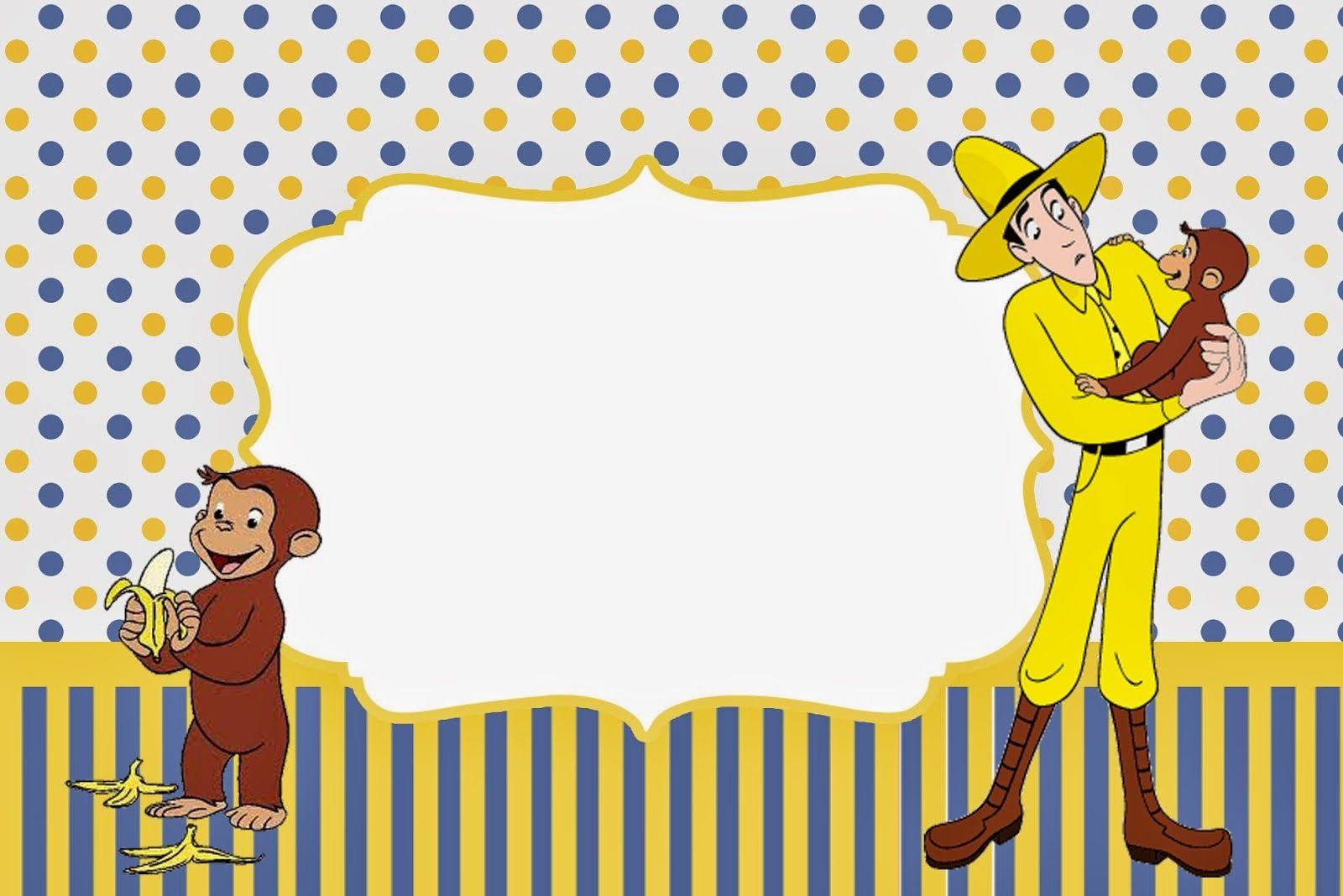 Curious George Free Printable Invitations. | Oh My Fiesta! in ...