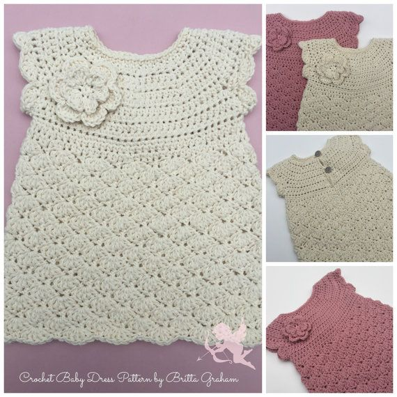 Baby Dress Crochet Pattern for 3 to 18 month Digital PDF Dress ...