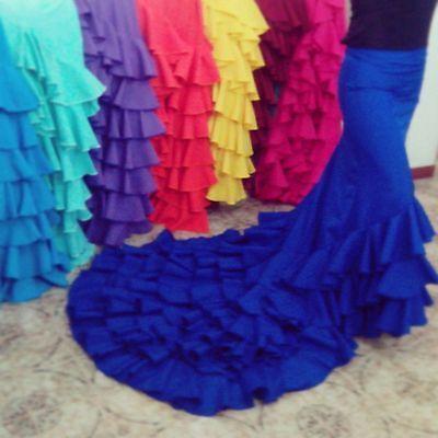 Bata de cola flamenco
