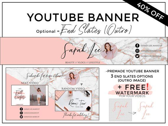 Youtube Banner, Youtube Channel Art, Youtube Header, Youtube End