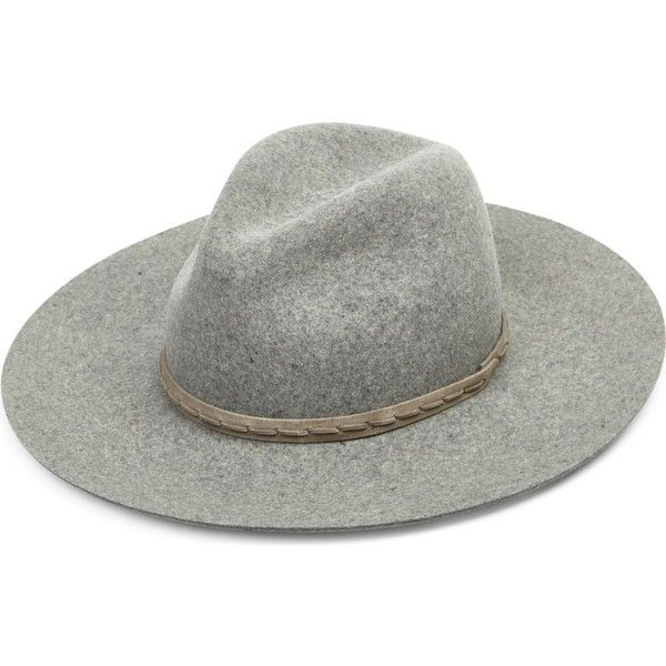 58f7623404cd7 RAG   BONE Wool   leather wide-brim hat ( 220) ❤ liked on Polyvore  featuring accessories