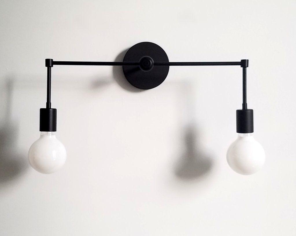 Medium Two-light Magazine Sconce | Bathroom fixtures, Round ...