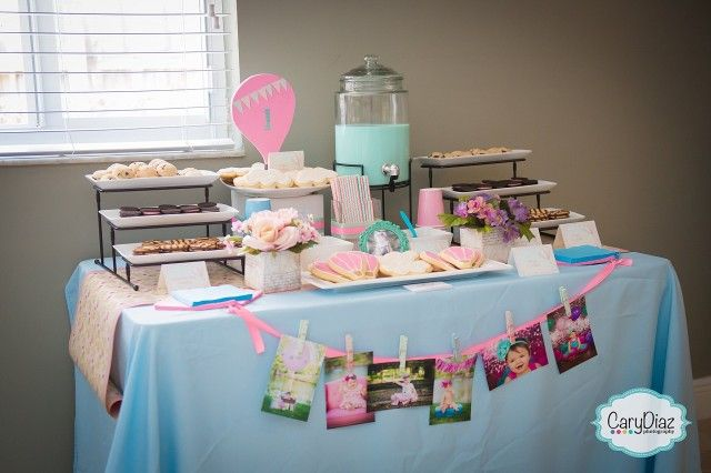 Kailey�s 1st Birthday Party | Vintage Hot Air Balloons | Personal