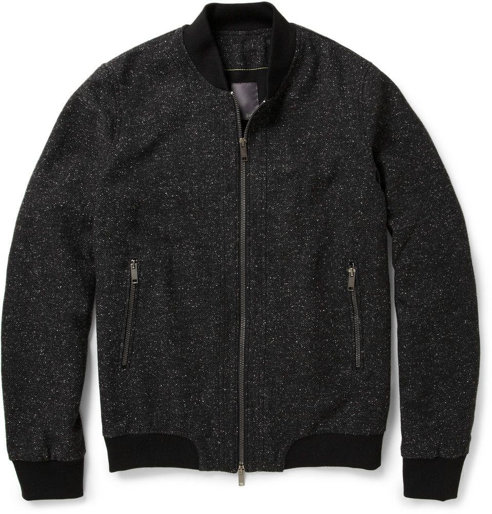 Lot78Wool-Blend Tweed Bomber Jacket|MR PORTER