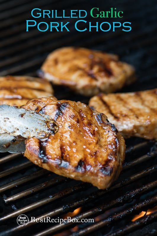 Grilled Garlic Pork Chops