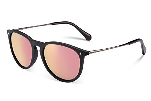 8d4718066f Carfia Vintage Womens Polarized Sunglasses with UV400 Protection Matte  black pink mirror Multicoloured     Continue to the product at the image  link.