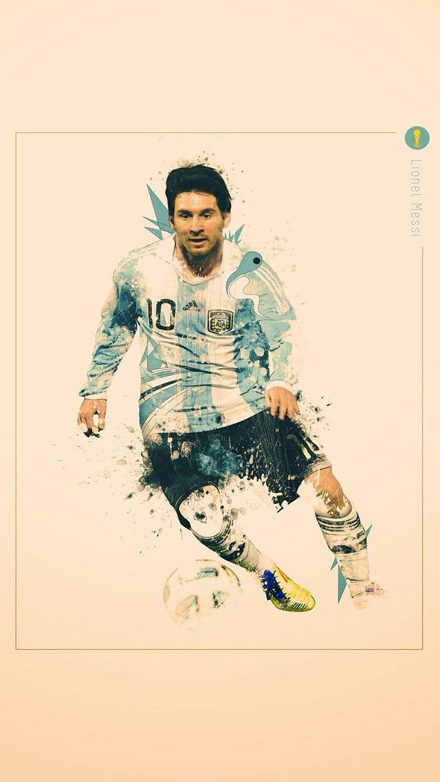 Lionel Messi football World Cup iPhone wallpaper (With