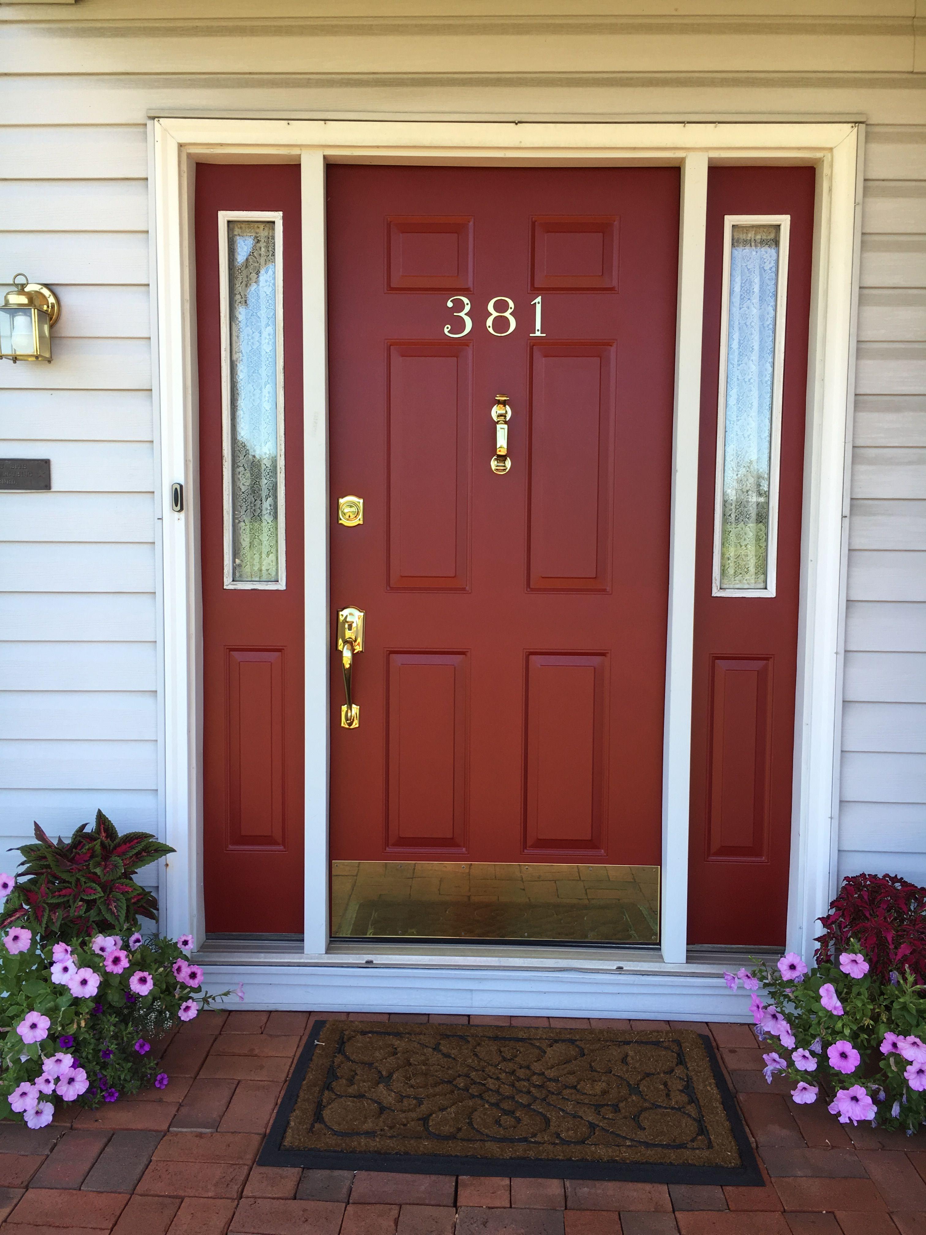 Sherwin Williams Wild Currant Love This Color Red Front Door Door Color Painted Front Doors