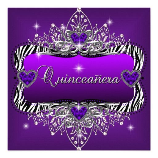 Purple and Black Party Backgrounds – Quinceanera Party Invitations