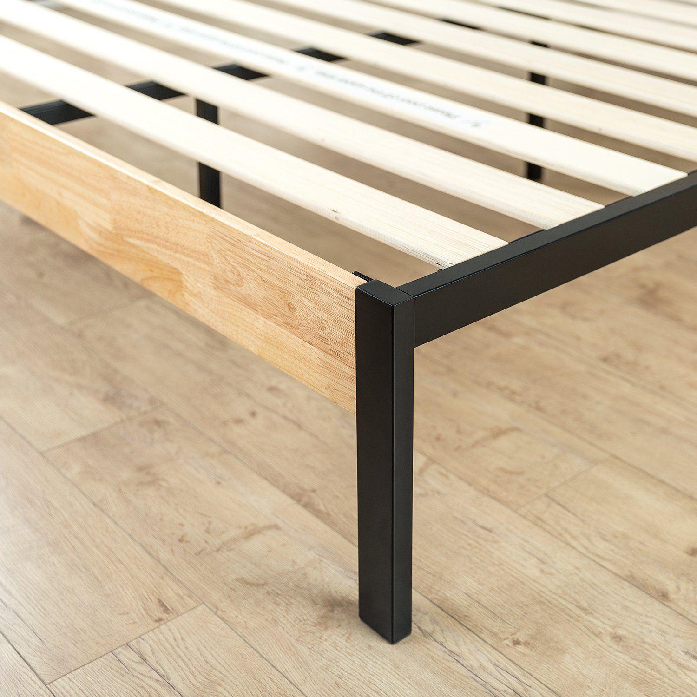 Zinus Tuscan Metal Furniture Wood platform bed, Wood
