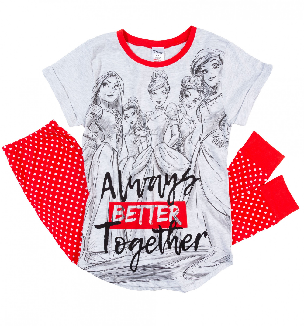 Women's Disney Princess Always Better Together Pyjamas in