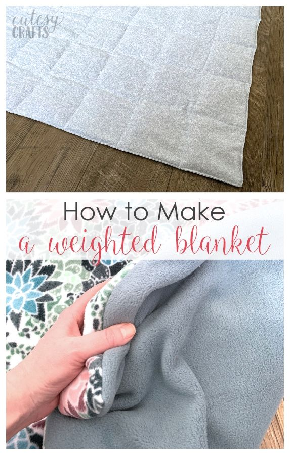 How To Make A Weighted Blanket Cutesy Crafts Making A Weighted Blanket Weighted Blanket Diy Sewing Projects For Beginners