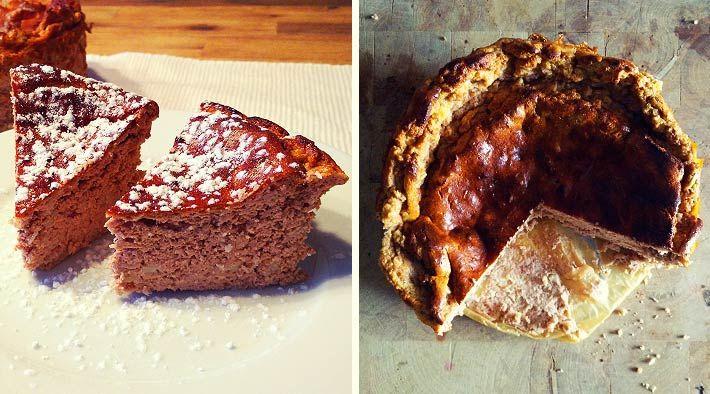 Gesunde quark kuchen