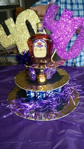 Royal crown and beer bottle cake