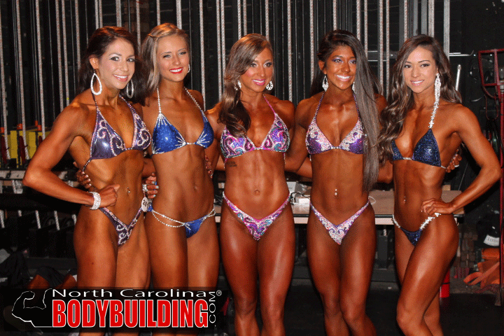 NPC Bikini Division  Bikini Competitor Rules      Competitors will compete in a two-piece suit.     The bottom of the suit must be v-shaped.     No thongs are permitted.     Competitors can compete in an off the rack suit.     All swimsuits must be in good taste.     Competitors must wear high heels.     Competitors may wear Jewelry