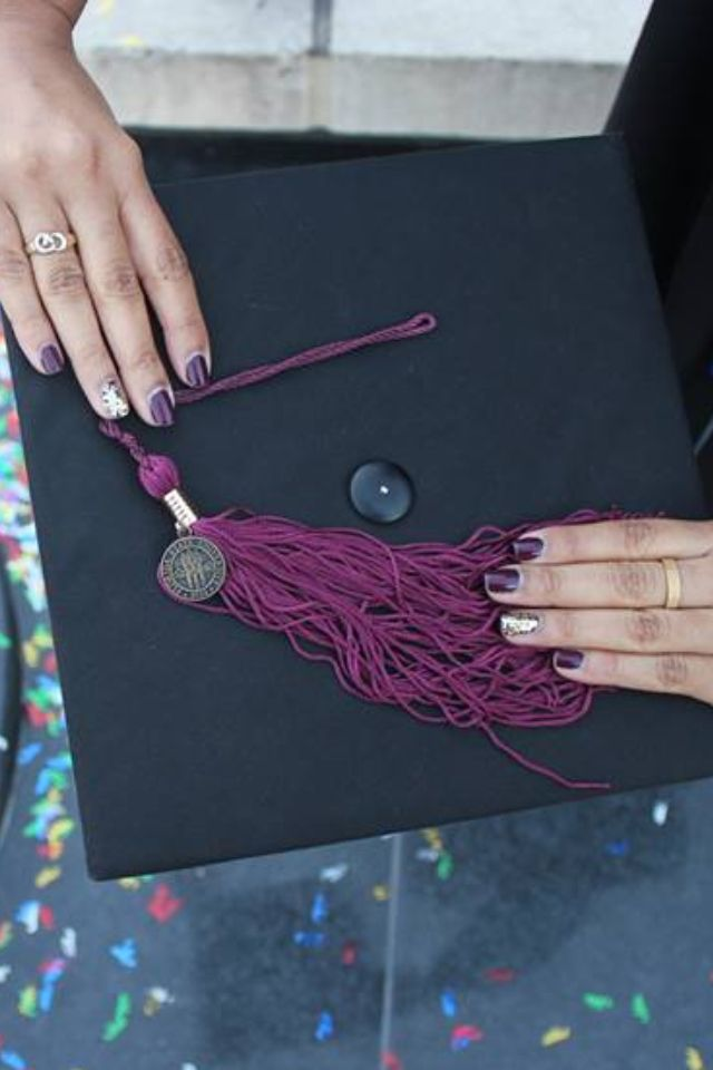 Garnet And Gold Graduation Nails Florida State University Fsu
