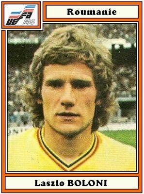 Laszlo Boloni of Romania. 1984 European Championship card. | Round sunglass  men, Mens sunglasses, European championships