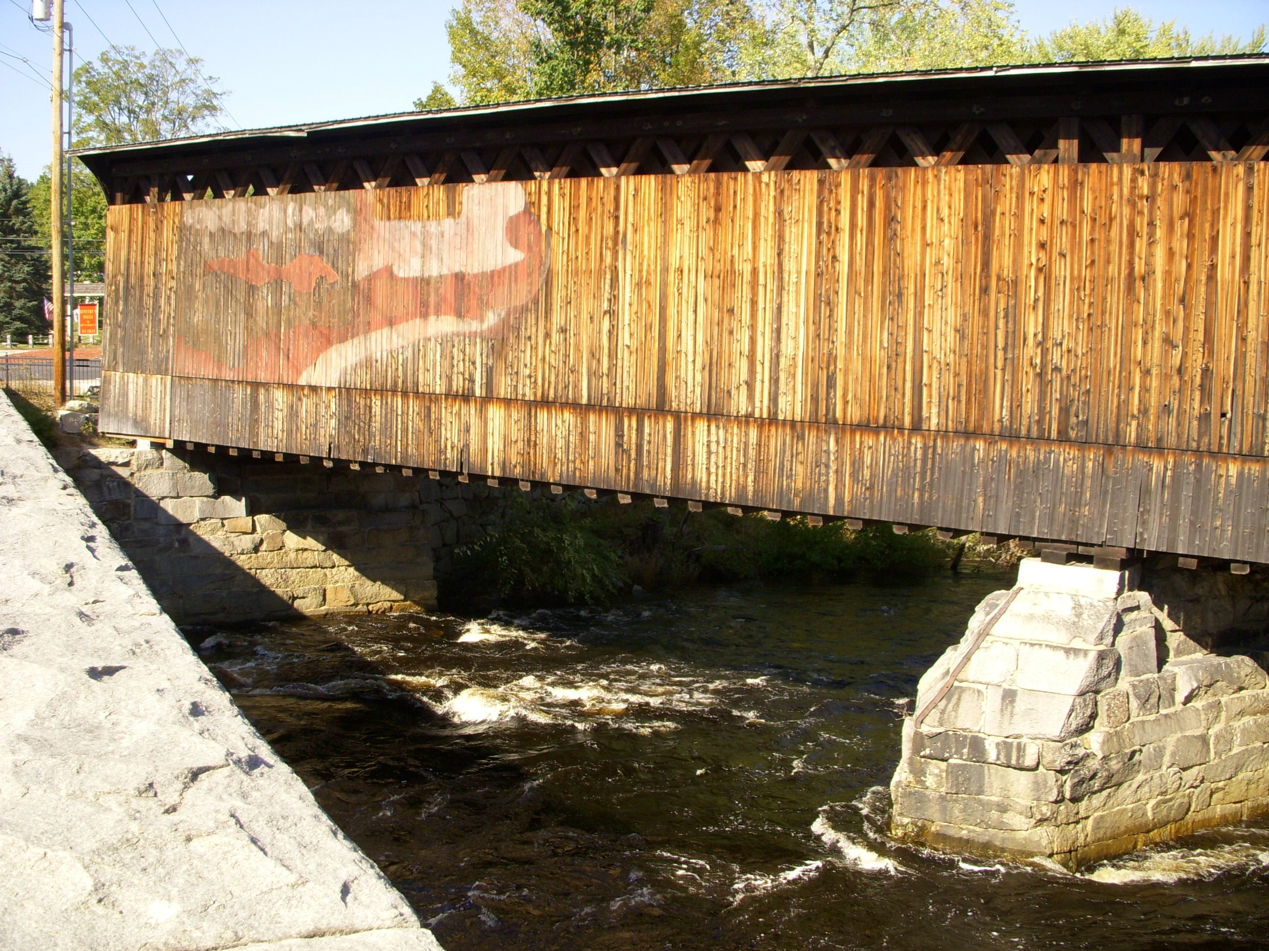 Covered Railroad Bridge in NH