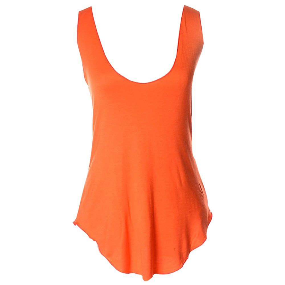 e857f6f2d32174 Shawhuaa Womens Summer Loose Deep V-Neck Vest Blouse T-shirt Tank Top Army