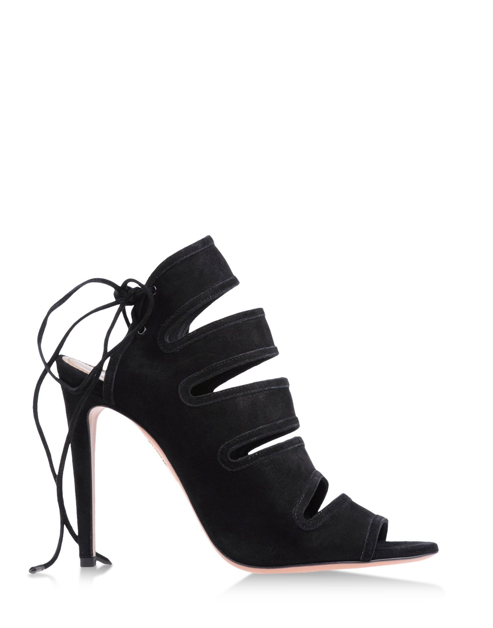Aquazzura Black Suede Sandal