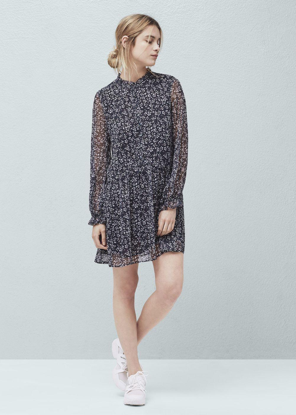 96a73d7d483a Flowy print dress - Woman