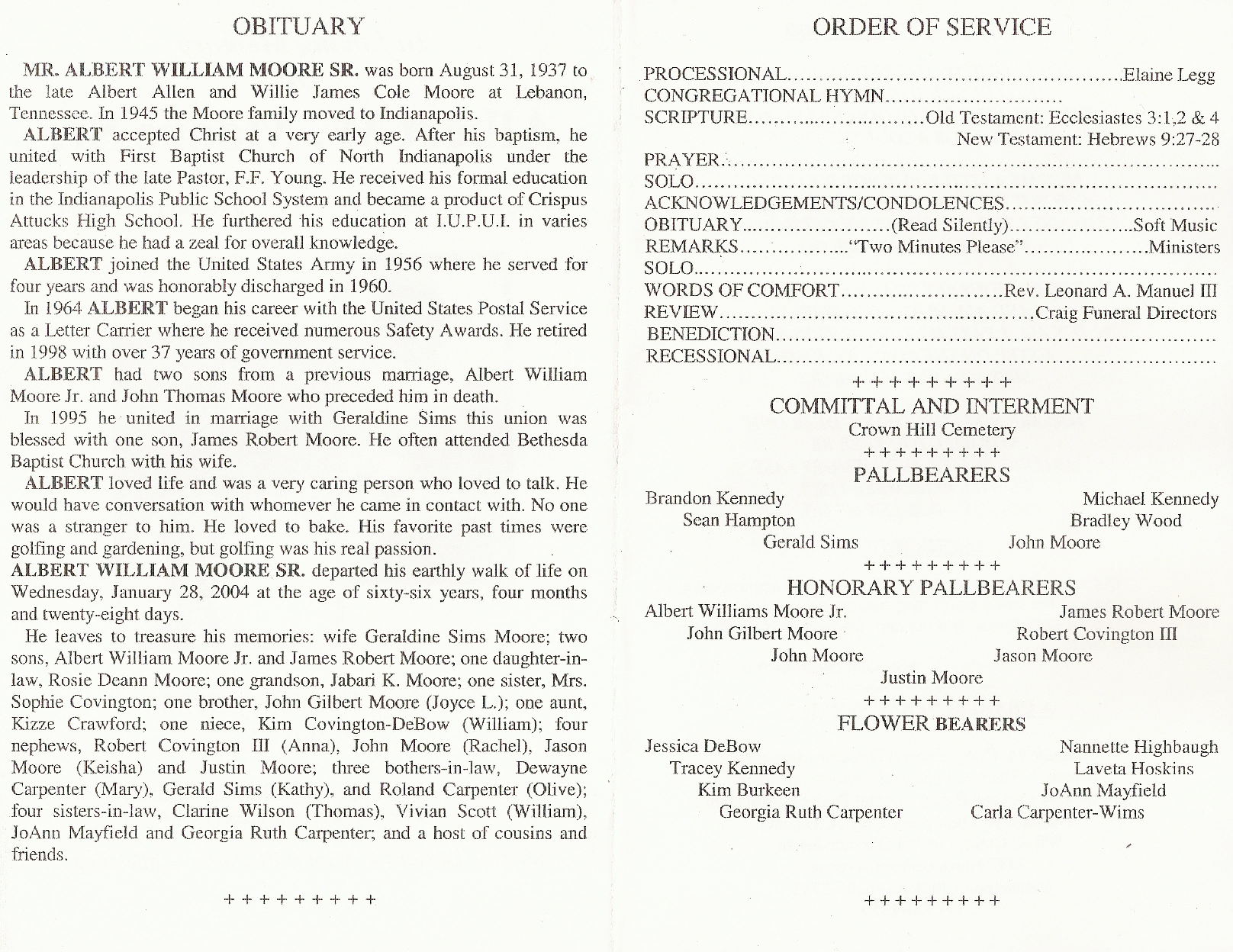 Funeral order of service outline sample obituary for Writing obituaries templates
