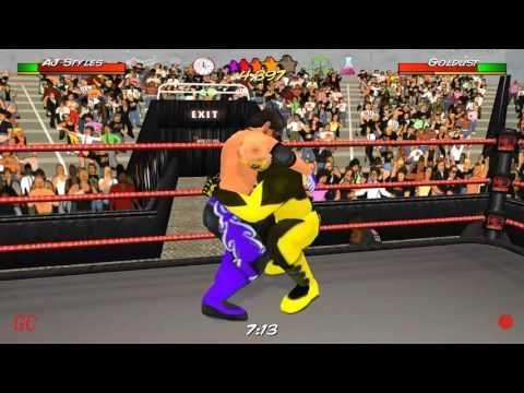 Wrestling Revolution 3D : AJ Styles vs  Goldust for United States