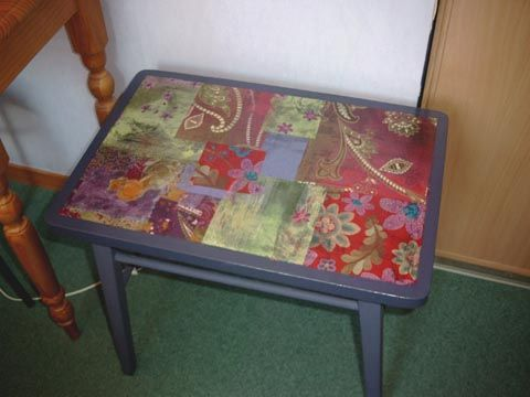 decopatch table revamp makeover upcycle decopatch. Black Bedroom Furniture Sets. Home Design Ideas