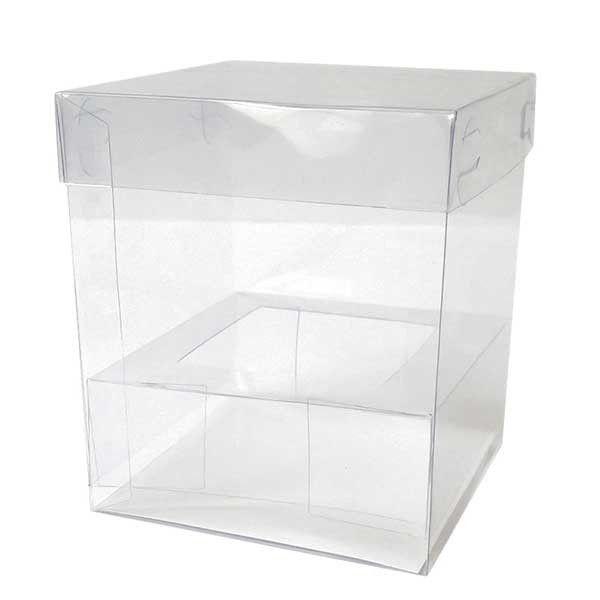Caja transparente para 1 cupcake cajas de acetato cajas for Cajas de plastico transparente