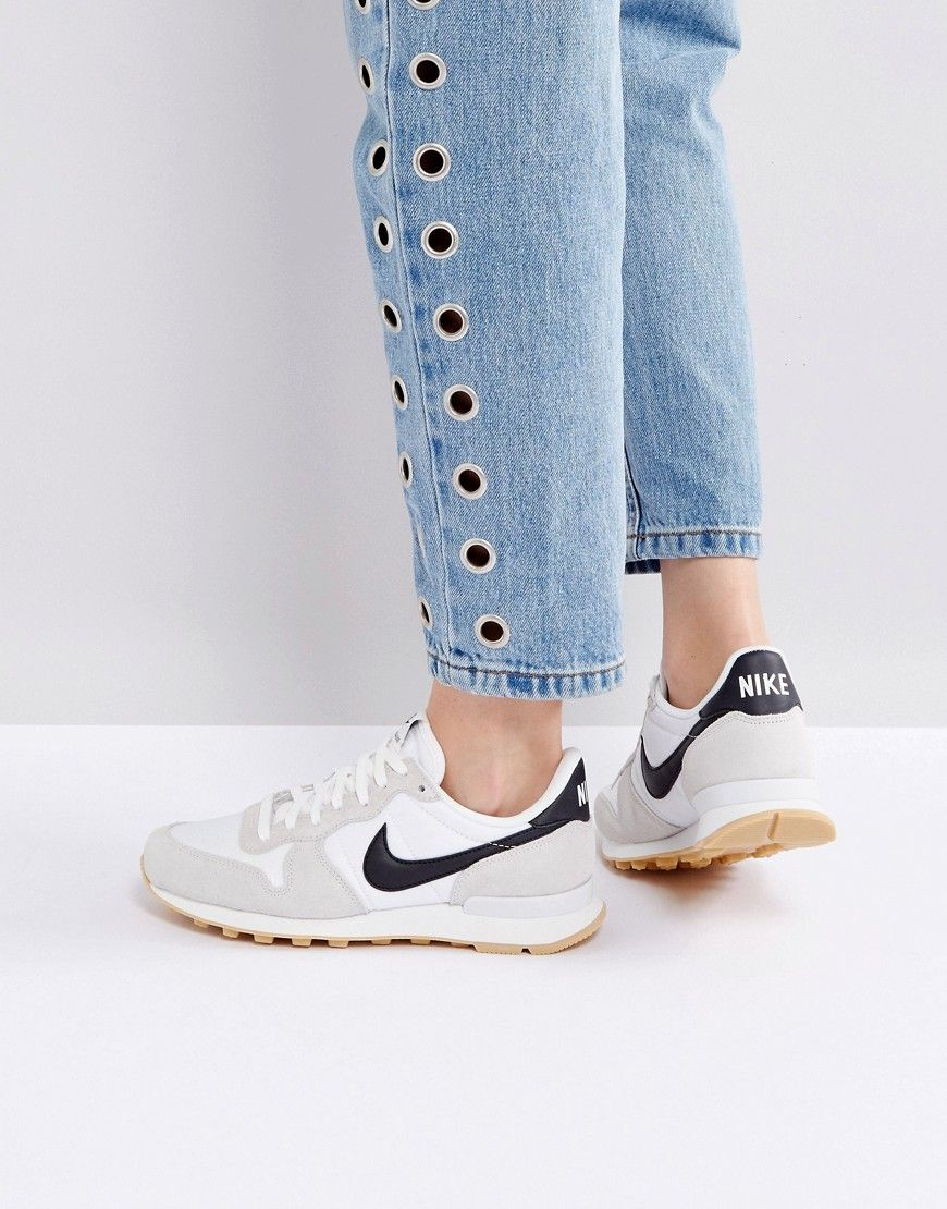 Nike Formateurs Internationalistes En Blanc - Blanc 6BDOQ