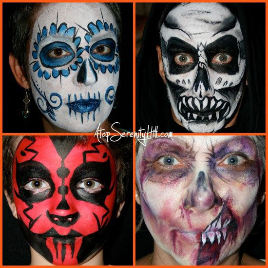 Last minute Halloween face painting ideas Halloween face paintings - face painting halloween ideas