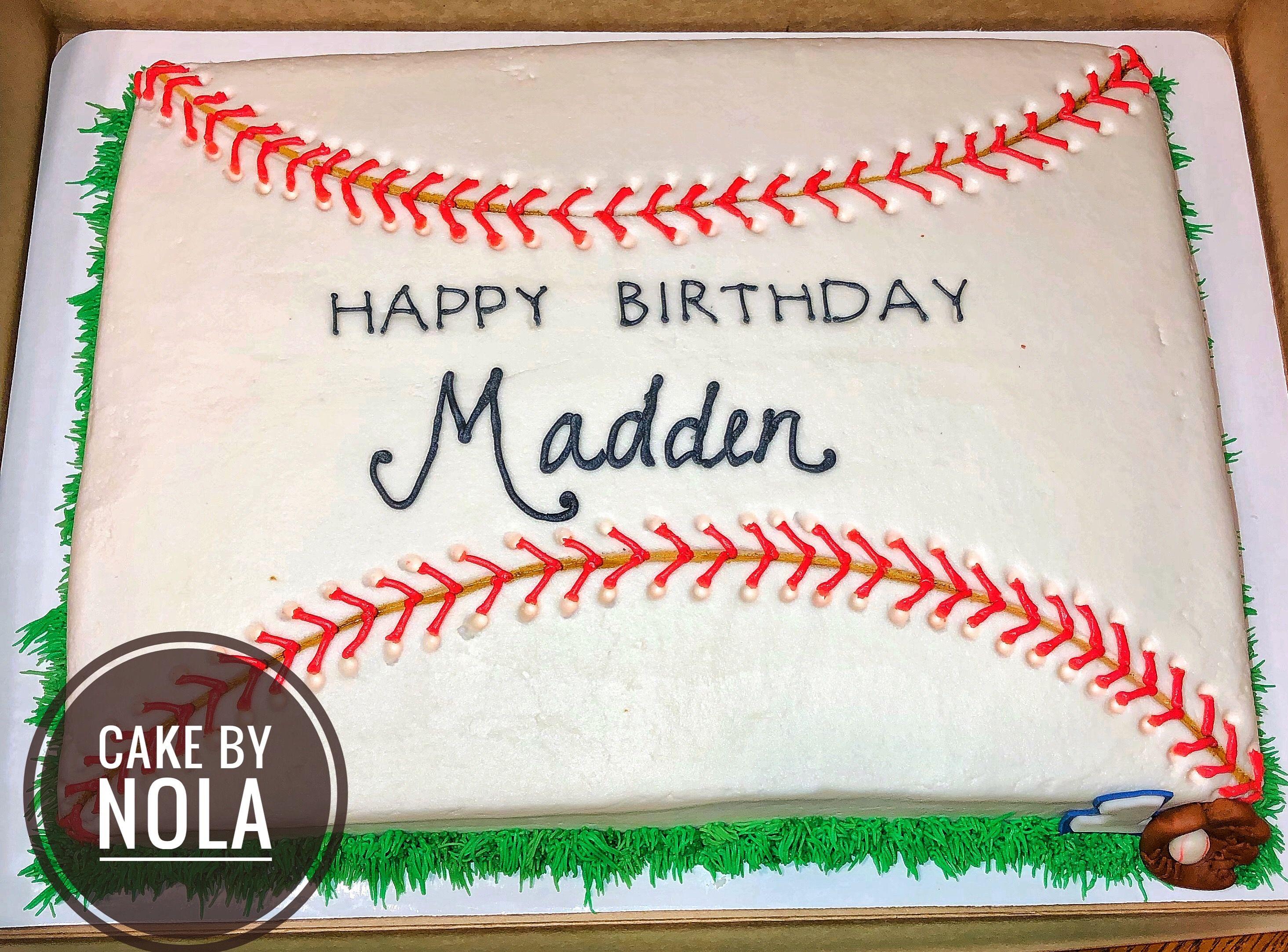 Astounding Baseball Themed Sheet Cake Sheet Cakes Are A Great Money Saving Funny Birthday Cards Online Necthendildamsfinfo