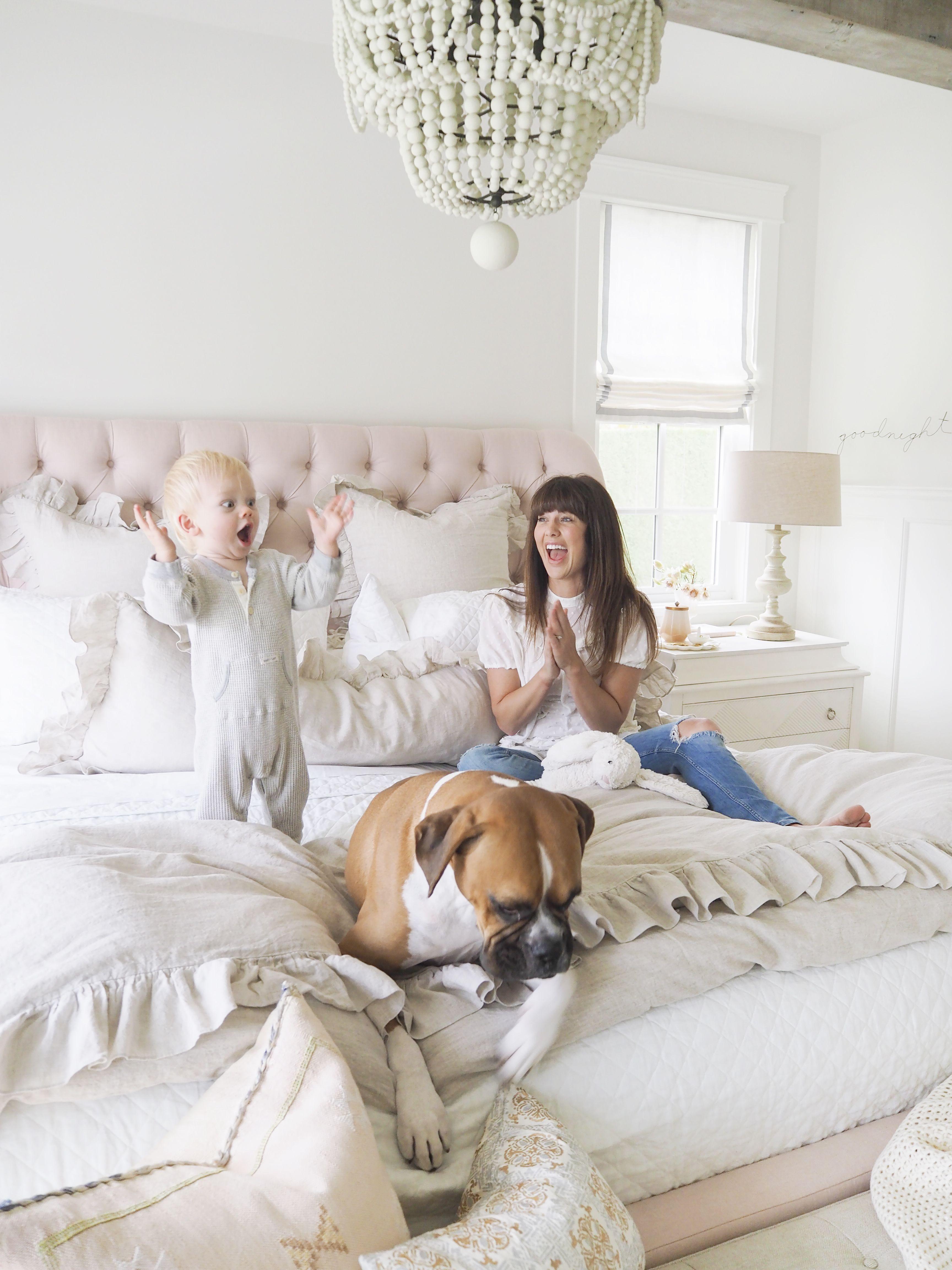 design bedroom%0A Yummy roman shades made by Q  Design in Jillian Harris u     bedroom