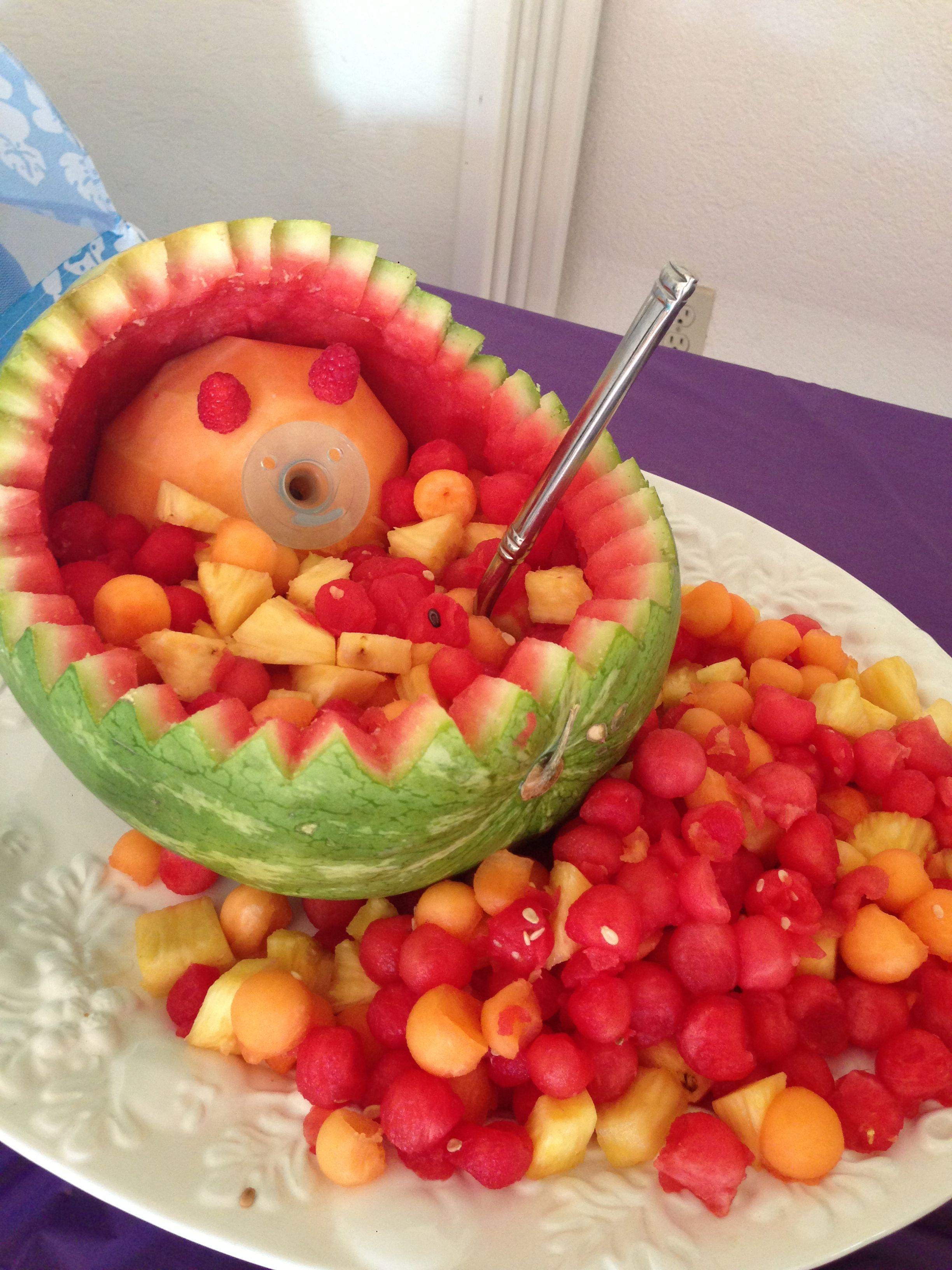 Baby In A Basket Veggie Creature Food Art Baby Shower Food Art