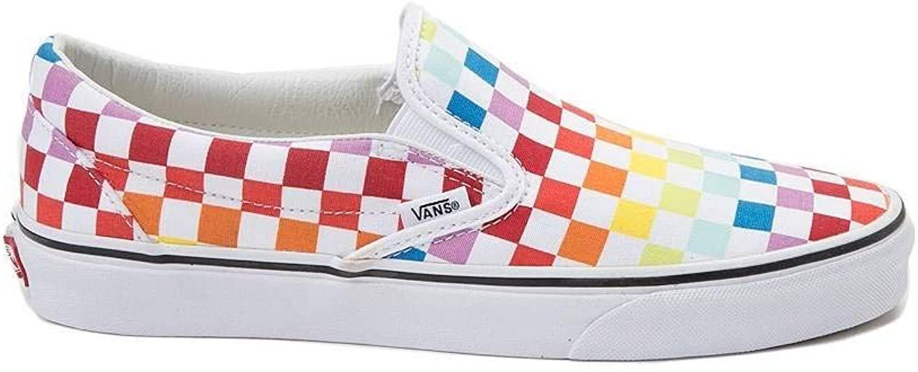 Vans Unisex Slip On Rainbow Chex Skate