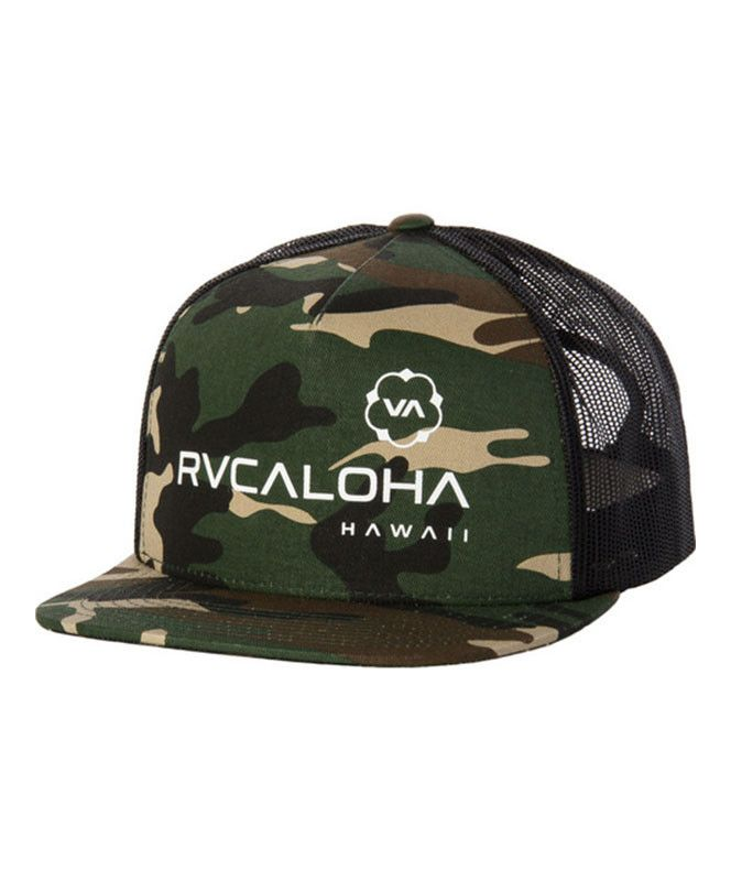 48fb9e0e7132f ... low cost rvca hawaii trucker hat rvcaloha 4c3aa 7607d