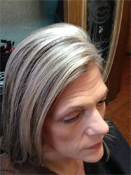 Grey Blending Highlights And Lowlights At The Hair Color Specia Photos Hurst