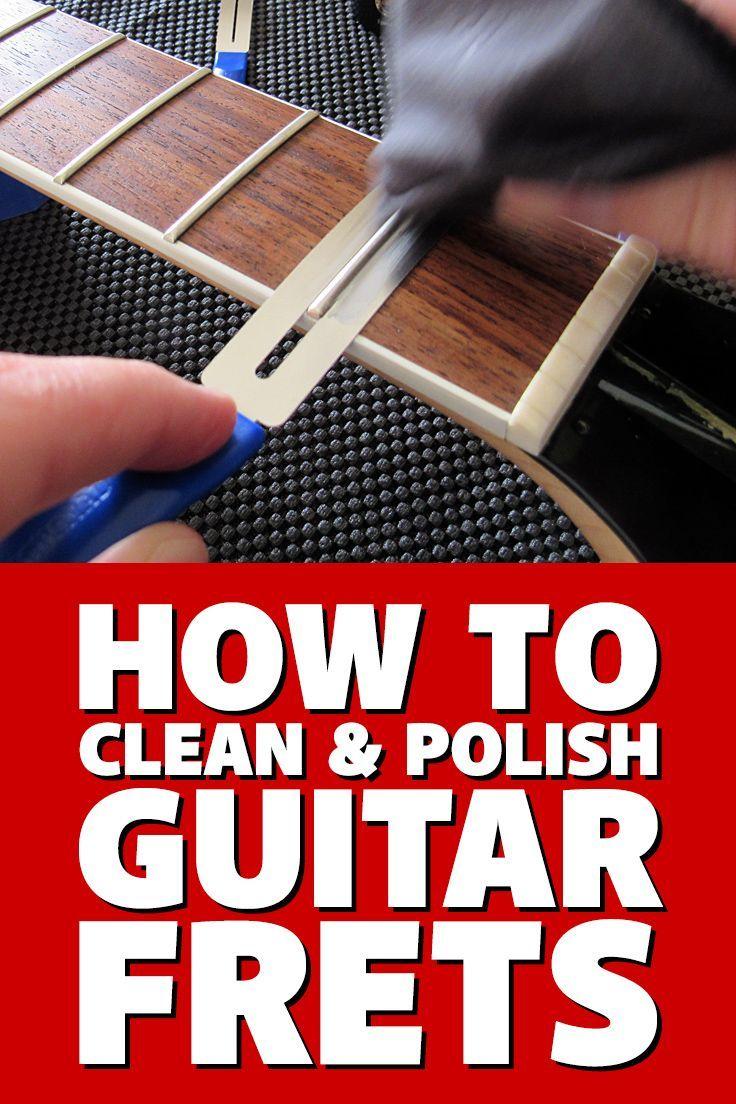 How To Clean Polish Guitar Frets The Fast Easy Diy Way Via Guitaranswerguy Guitar Diy Bass Guitar Tabs Playing Guitar