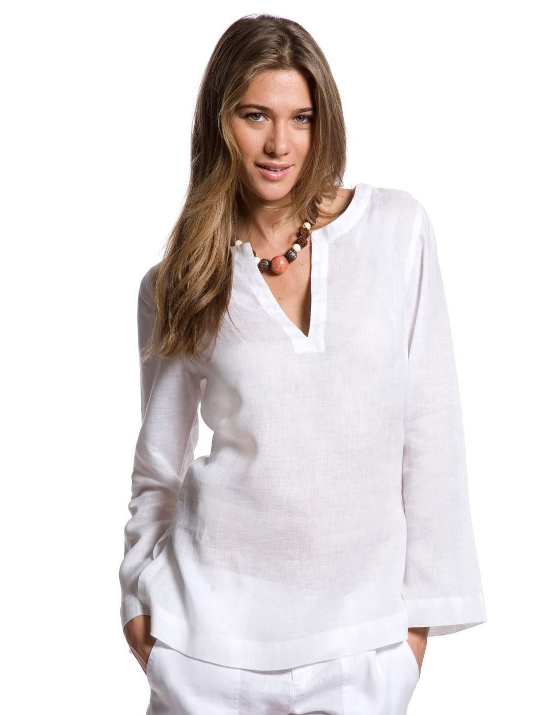 White Beach Tunic Women S White Linen Tunic Island Company The