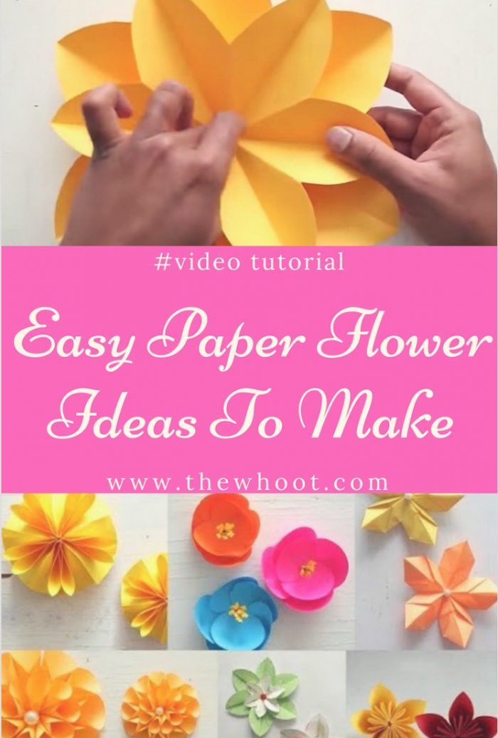 Paper Flowers DIY Ideas You'll Love - The WHOot