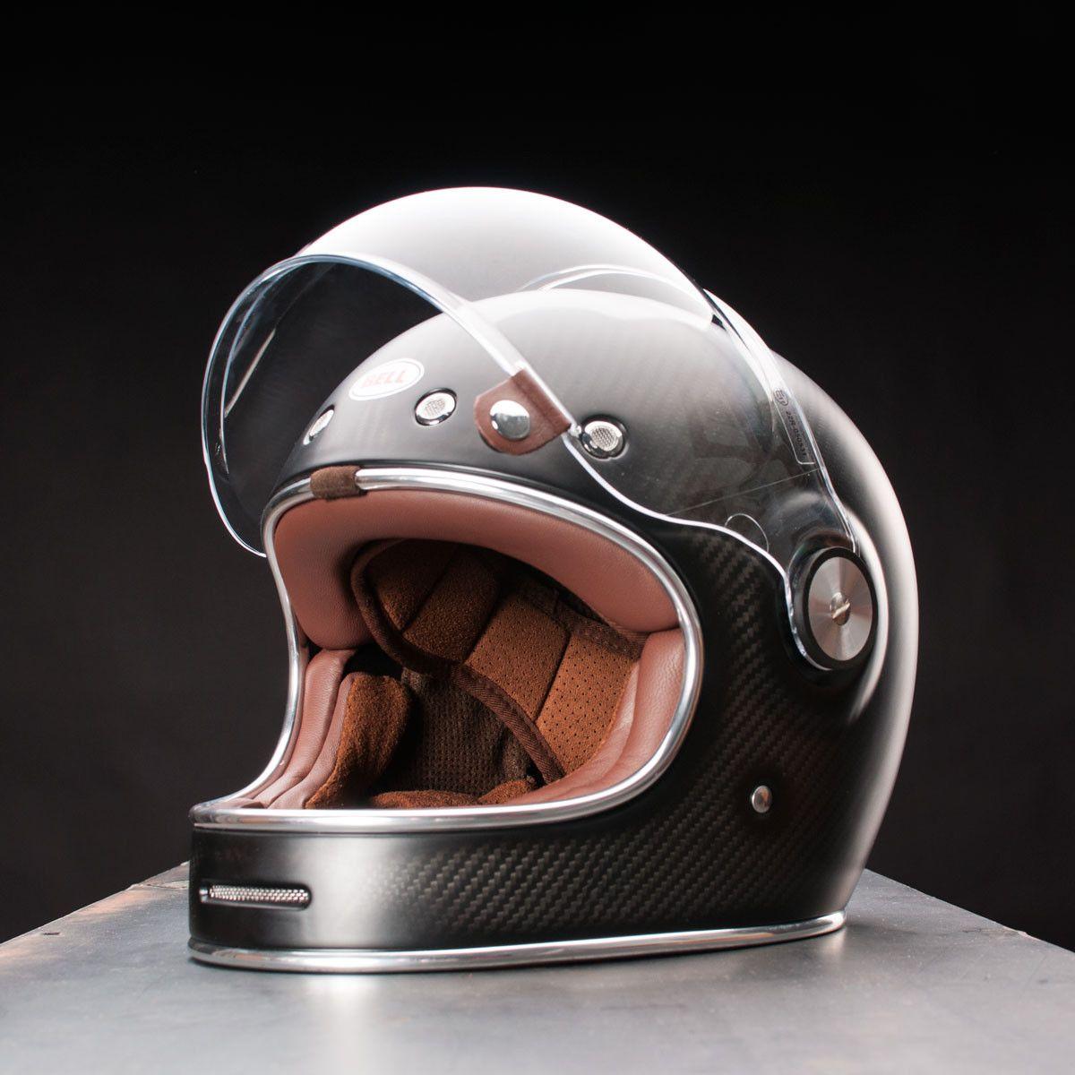 Bullitt Carbon Matte Cafe Racer Helmet Motorcycle Helmets Custom Motorcycle Helmets