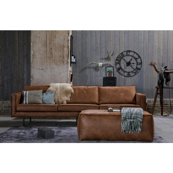 rodeo bank 3 zits | be pure | leather sofa | sofa, living room