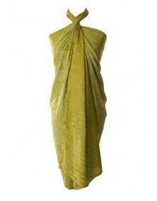Sarong excellent xl groen-geel