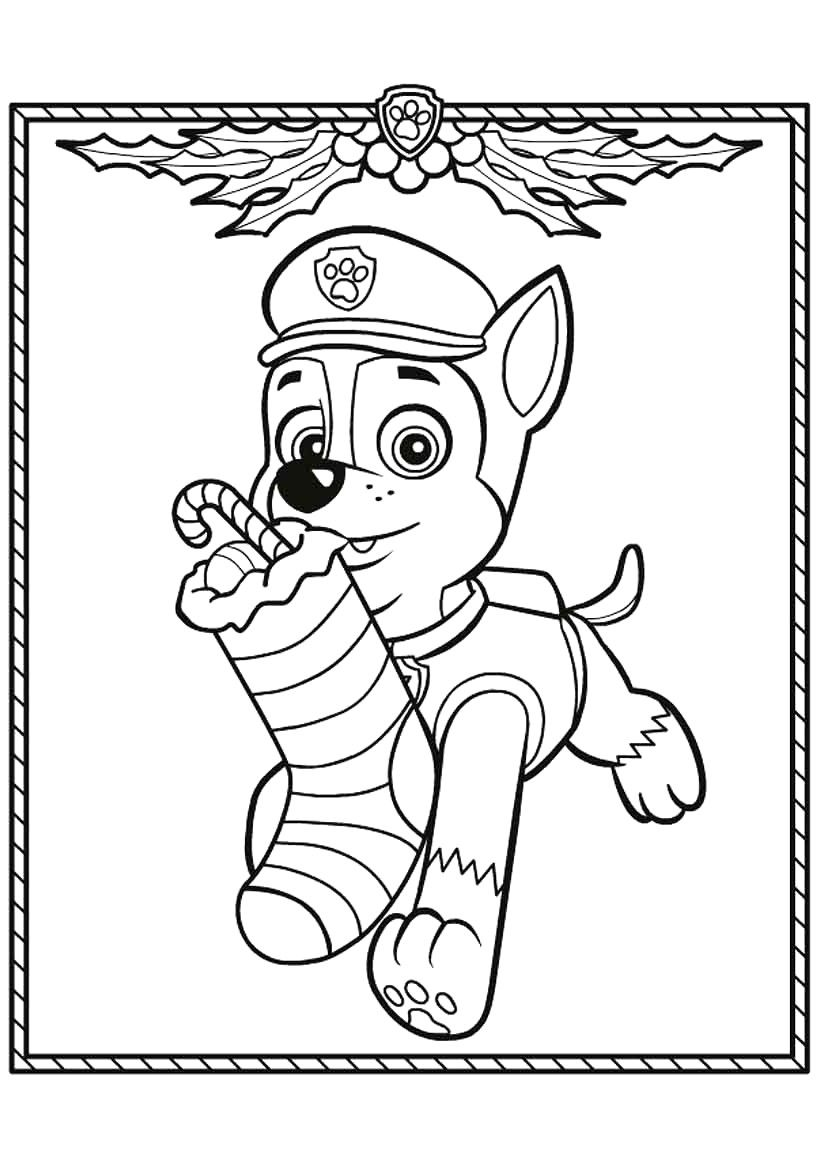 Printable Paw Patrol Christmas Coloring Pages Photos